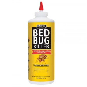 Harris Bed Bug Killer, Diatomaceous Earth Powder, Fast Kill With Extended Residual Protection (8oz)