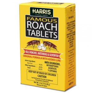 Harris Famous Roach & Silverfish Killer, 4oz Cockroach Tablets