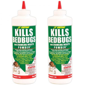 2 Pcs JT Eaton 203 Bedbug Killer And Crawling Insect Powder With Diatomaceous Earth, 7-Ounce Bottle